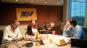 Eduardo Nájera y Fay Crevoshay en Radio Red, México D.F.