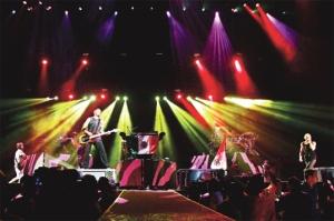 Linkin Park en concierto.